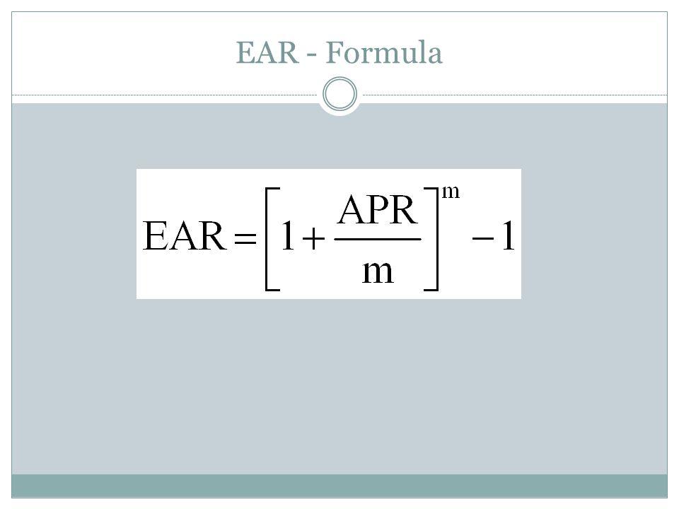 EAR - Formula