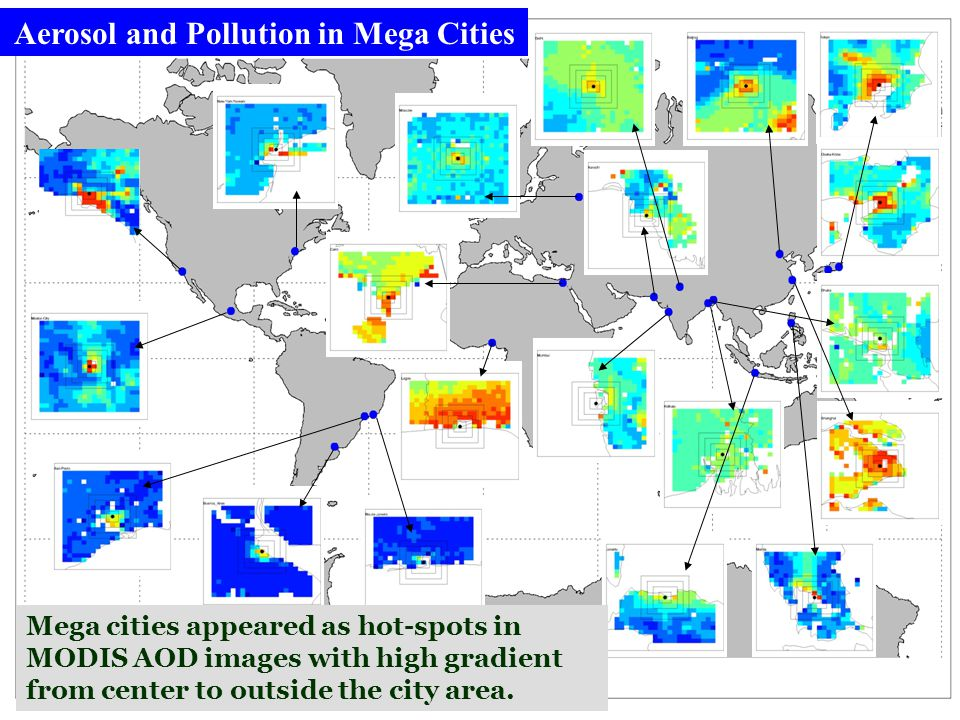 Aerosol and Pollution in Mega Cities