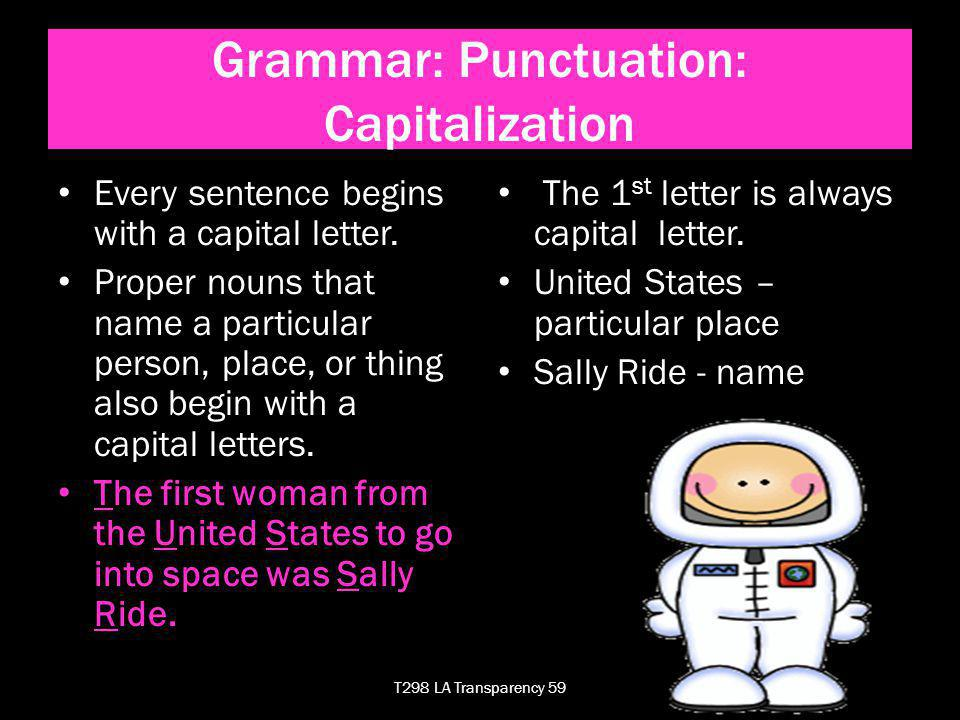 Grammar: Punctuation: Capitalization