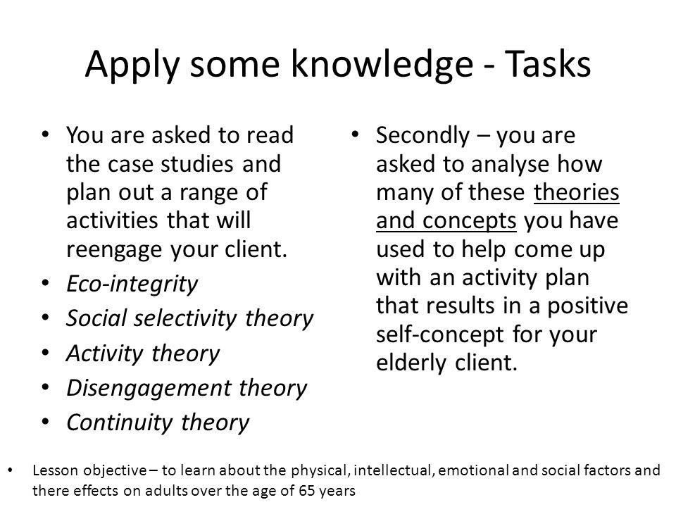 Apply some knowledge - Tasks
