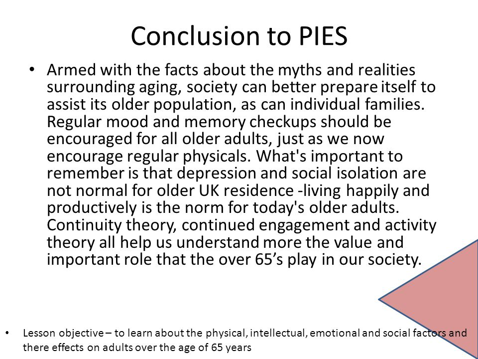 Conclusion to PIES