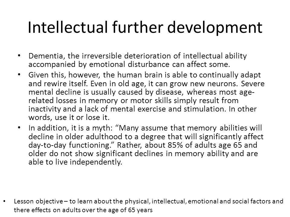 Intellectual further development