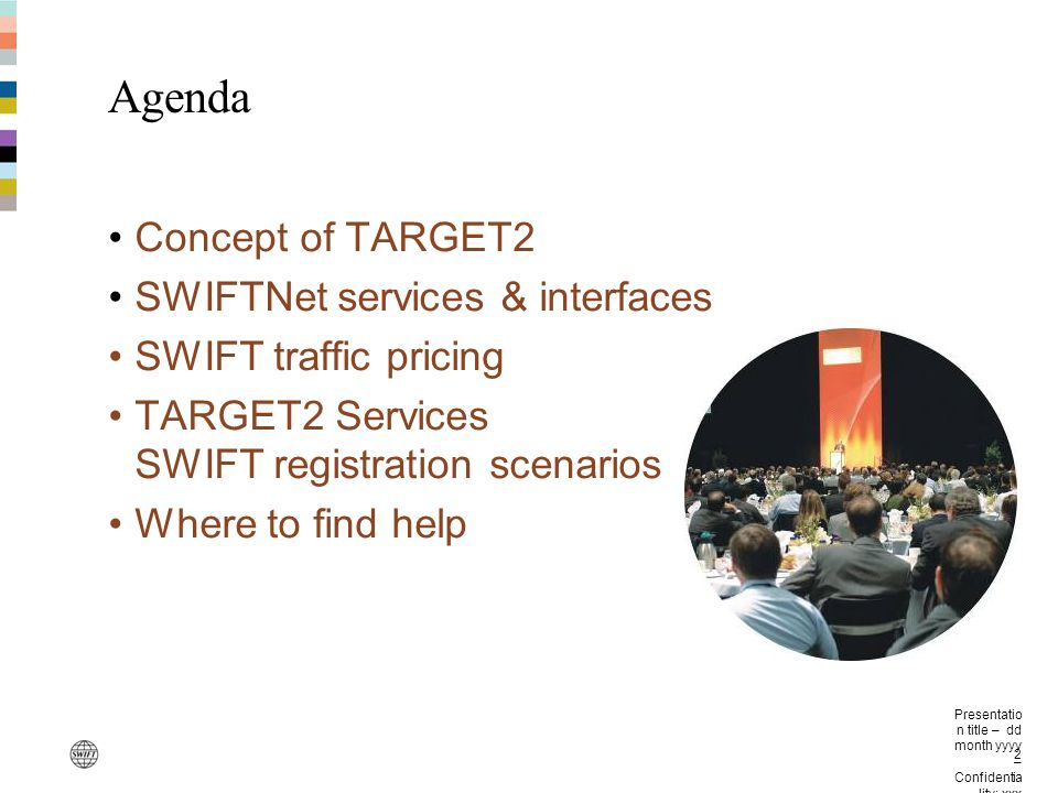 Agenda Concept of TARGET2 SWIFTNet services & interfaces