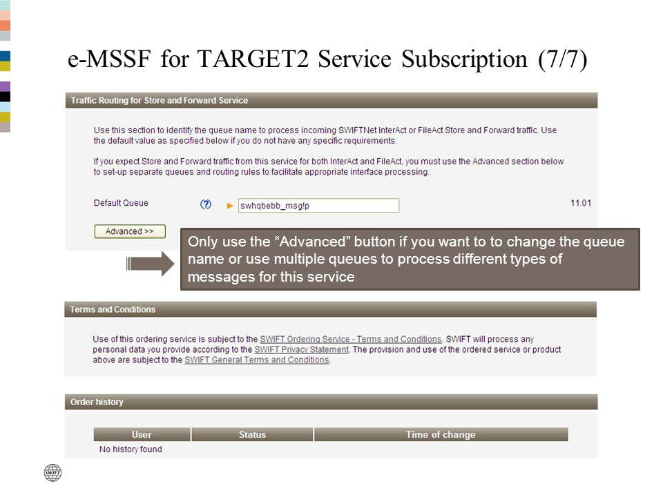 e-MSSF for TARGET2 Service Subscription (7/7)
