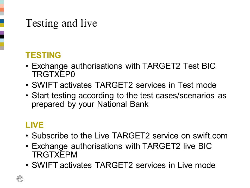 Testing and live TESTING