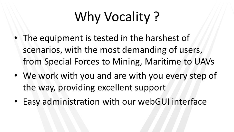 Why Vocality
