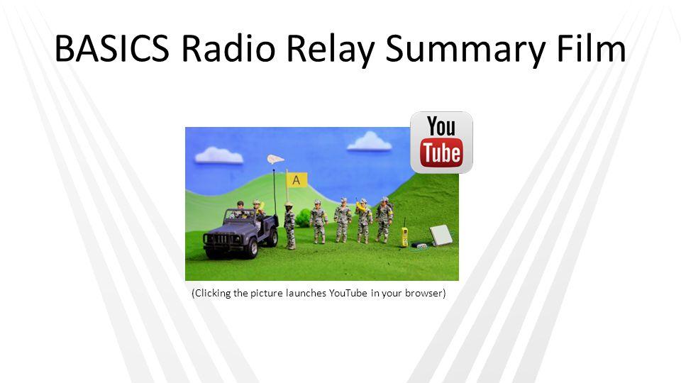 BASICS Radio Relay Summary Film