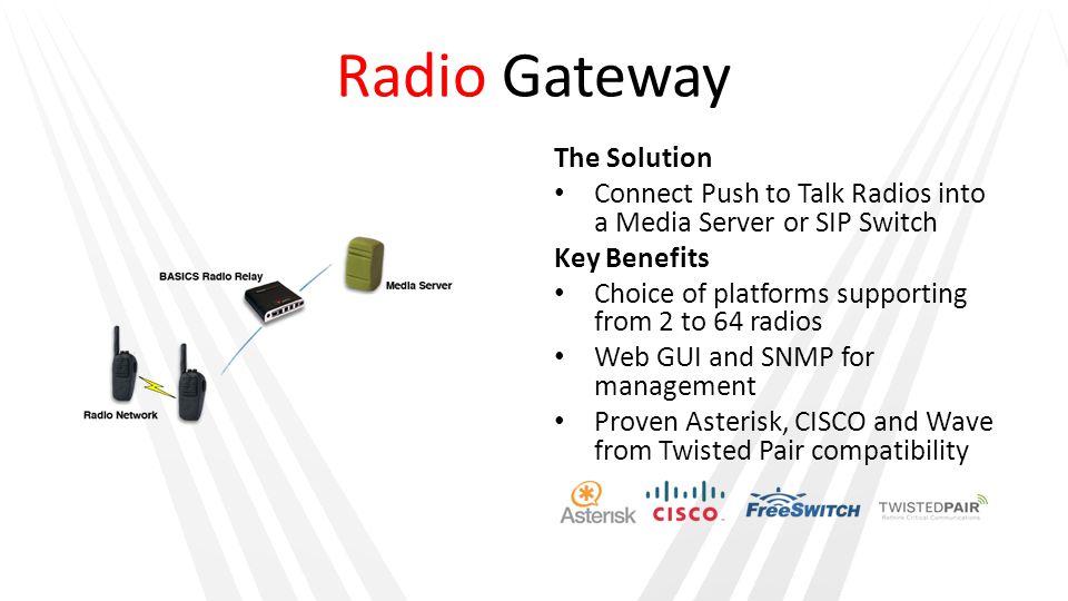 Radio Gateway The Solution