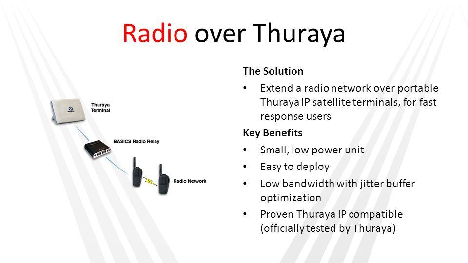 Radio over Thuraya The Solution