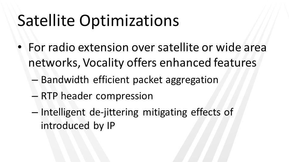 Satellite Optimizations