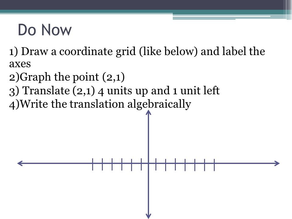 Do Now 1 Draw A Coordinate Grid Like Below And Label The Axes 2