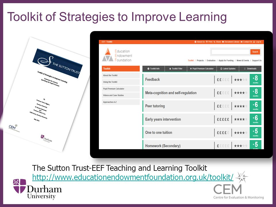 Toolkit of Strategies to Improve Learning