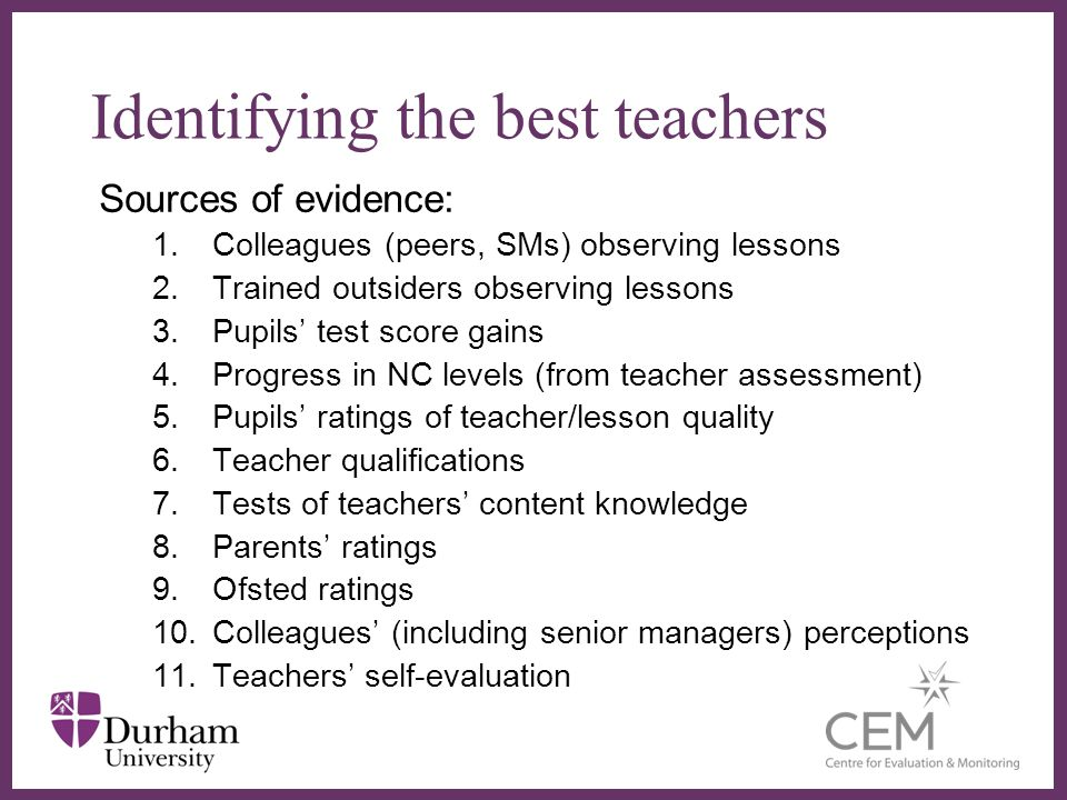 Identifying the best teachers