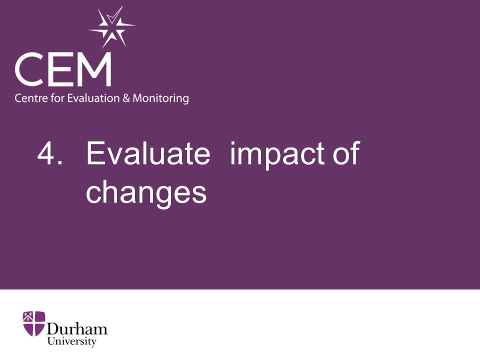 4. Evaluate impact of changes