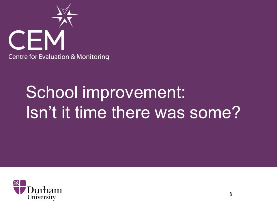 School improvement: Isn't it time there was some