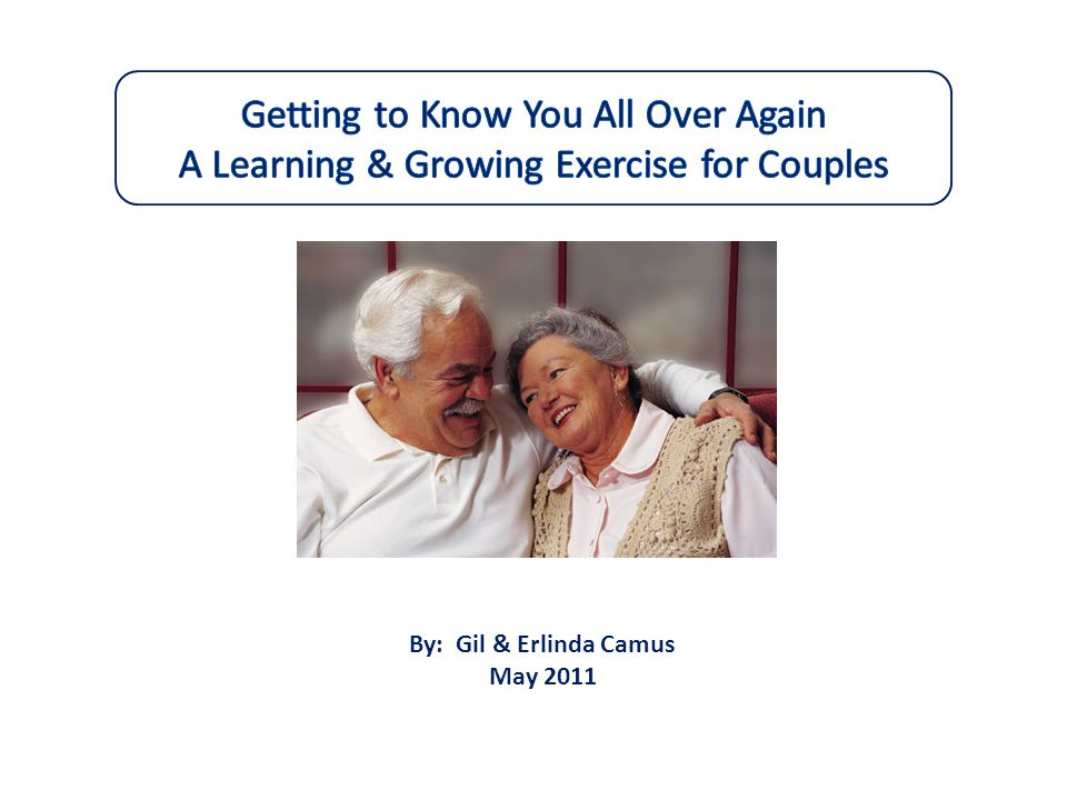 Getting to Know You All Over Again A Learning & Growing Exercise for Couples
