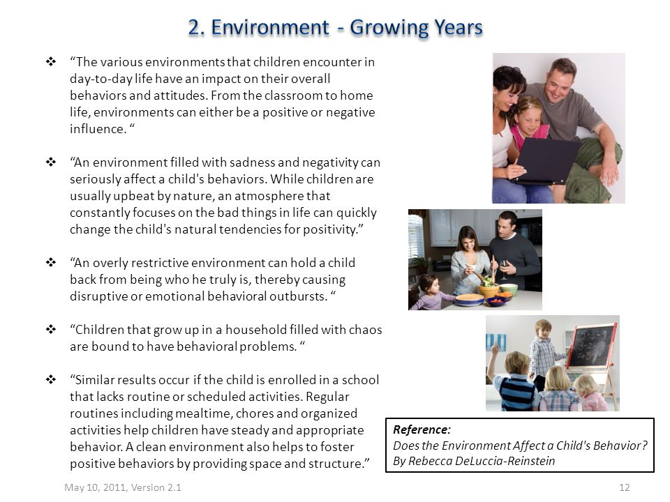 2. Environment - Growing Years