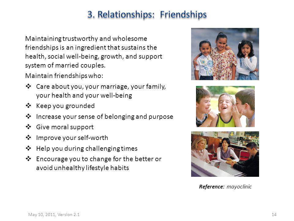 3. Relationships: Friendships