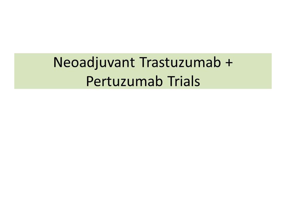 Neoadjuvant Trastuzumab + Pertuzumab Trials