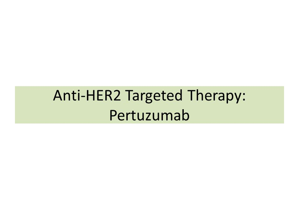 Anti-HER2 Targeted Therapy: Pertuzumab