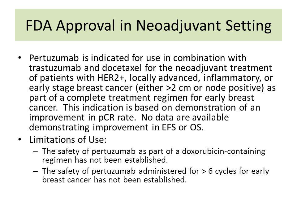 FDA Approval in Neoadjuvant Setting
