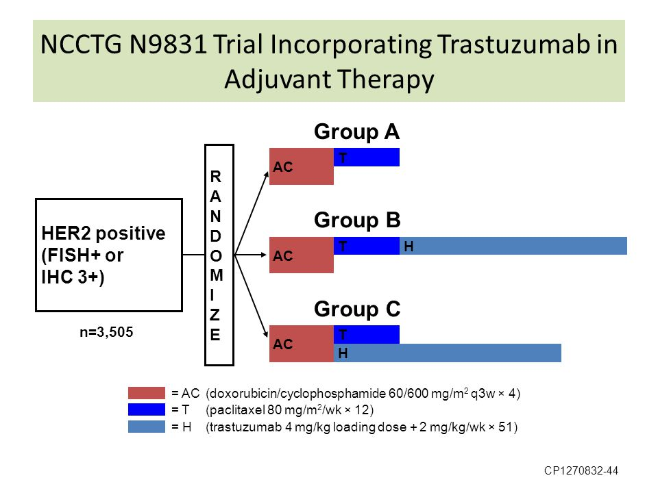 NCCTG N9831 Trial Incorporating Trastuzumab in Adjuvant Therapy