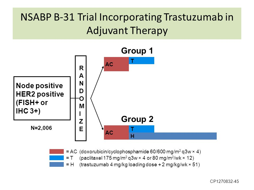 NSABP B-31 Trial Incorporating Trastuzumab in Adjuvant Therapy