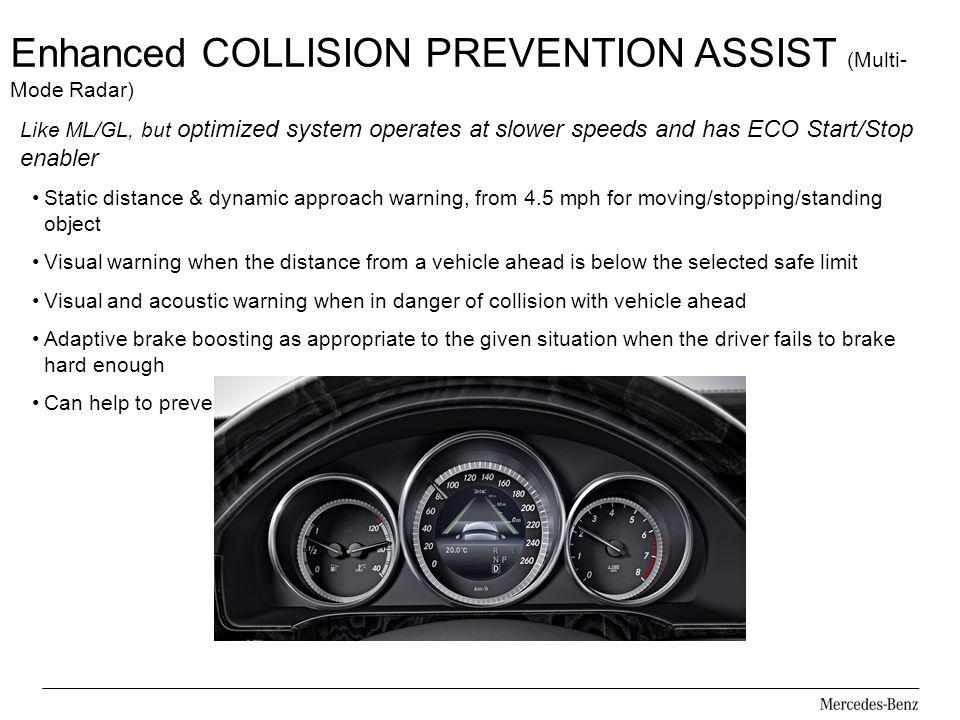 Enhanced COLLISION PREVENTION ASSIST (Multi-Mode Radar)
