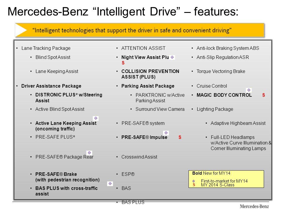 Mercedes-Benz Intelligent Drive – features: