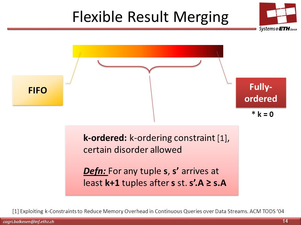 Flexible Result Merging