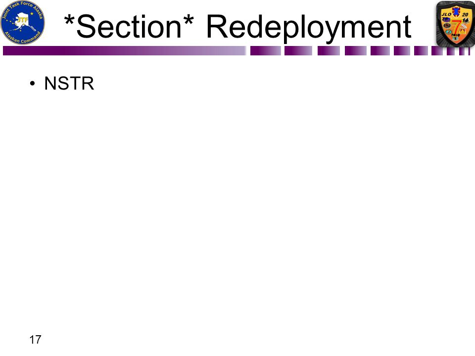 *Section* Redeployment