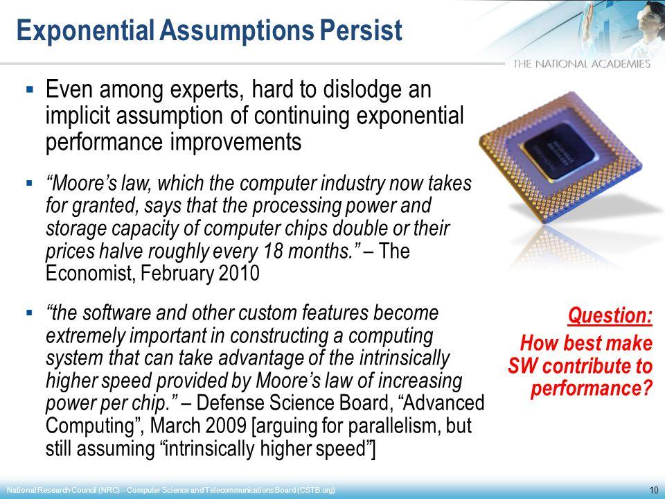 Exponential Assumptions Persist