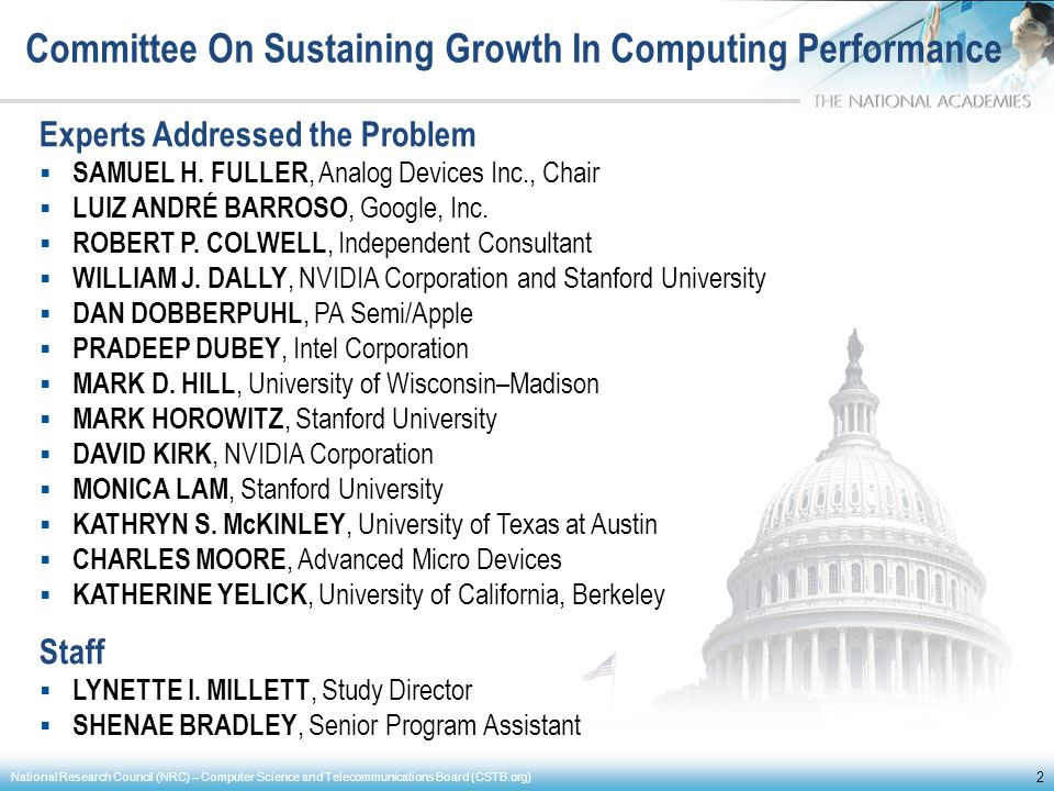 Committee On Sustaining Growth In Computing Performance