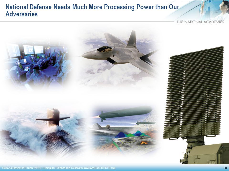 National Defense Needs Much More Processing Power than Our Adversaries