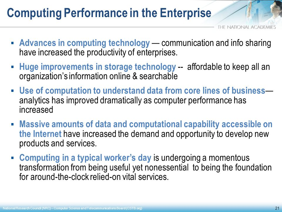 Computing Performance in the Enterprise