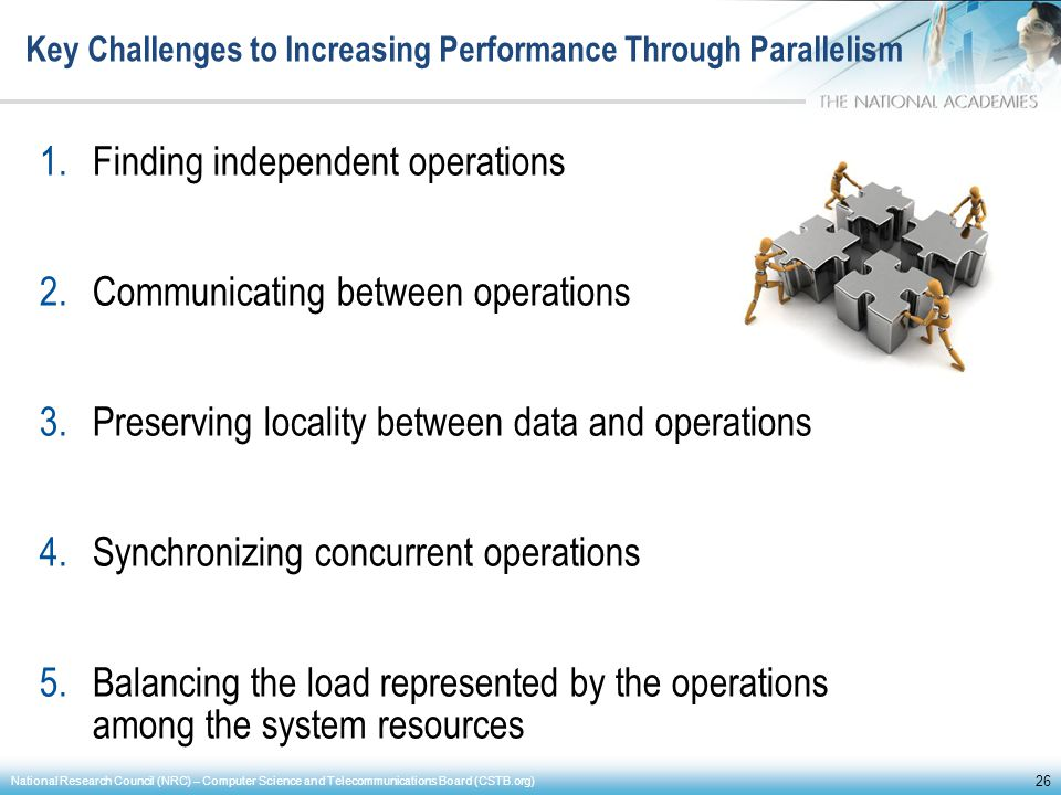 Key Challenges to Increasing Performance Through Parallelism