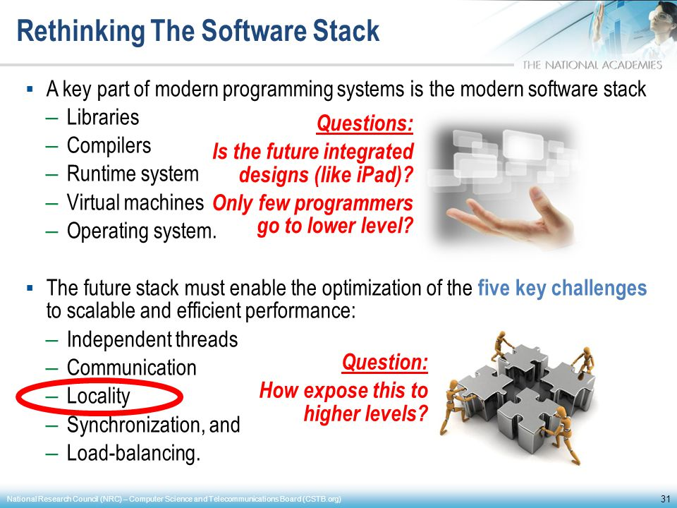 Rethinking The Software Stack