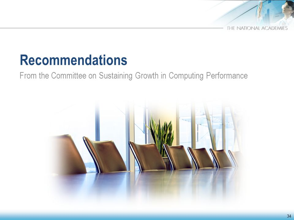 Recommendations From the Committee on Sustaining Growth in Computing Performance