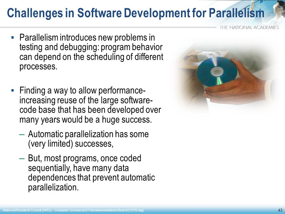 Challenges in Software Development for Parallelism