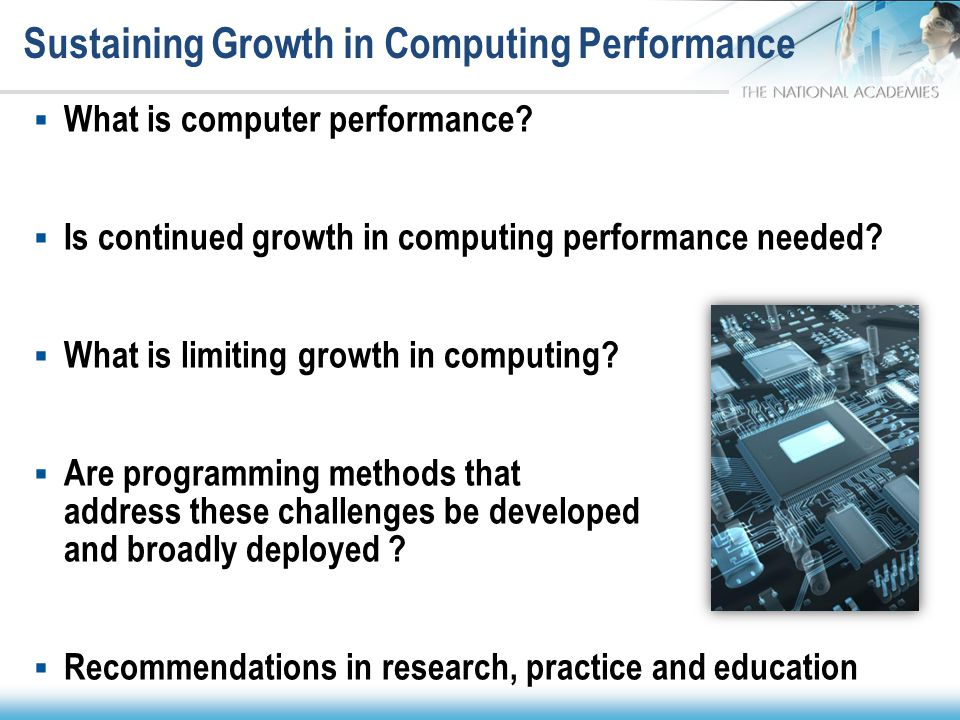 Sustaining Growth in Computing Performance