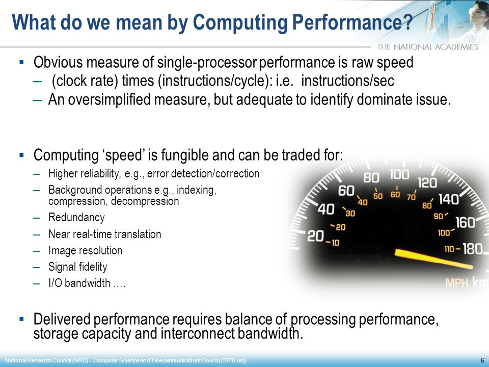 What do we mean by Computing Performance