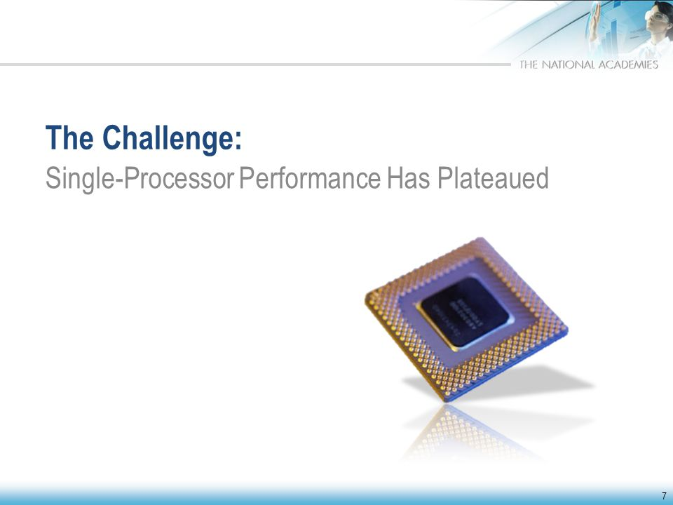 The Challenge: Single-Processor Performance Has Plateaued