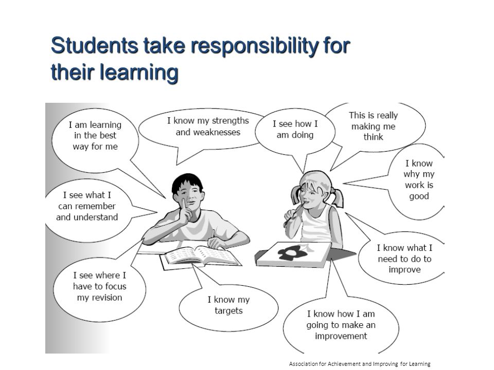 Students take responsibility for their learning