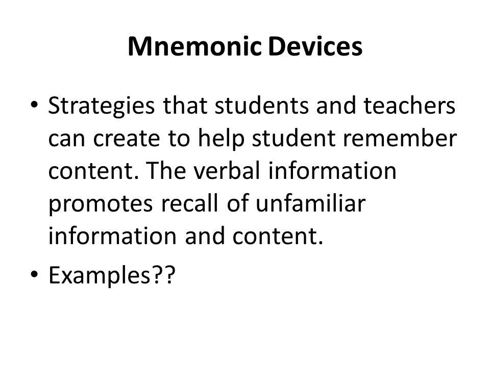 Mnemonic Devices