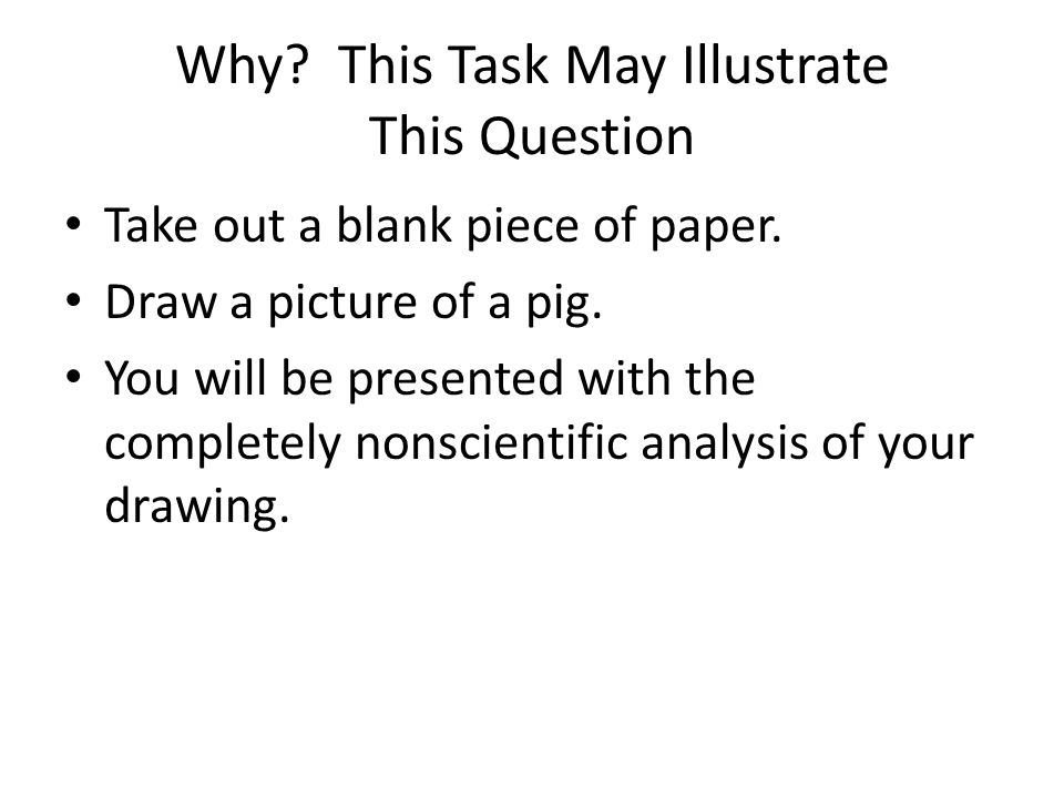 Why This Task May Illustrate This Question