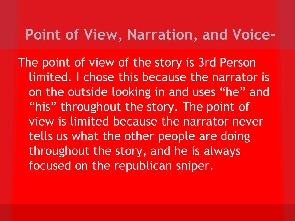 Point of View, Narration, and Voice-