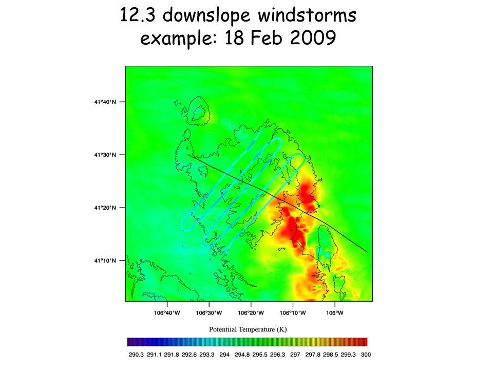 12.3 downslope windstorms example: 18 Feb 2009