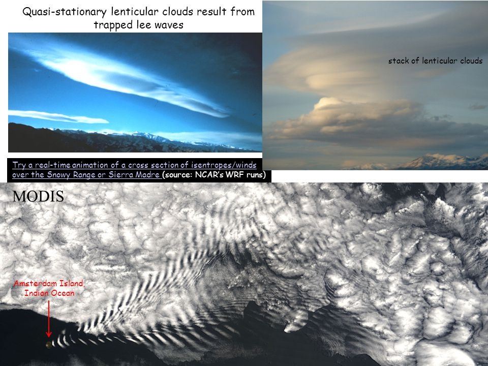 Quasi-stationary lenticular clouds result from trapped lee waves