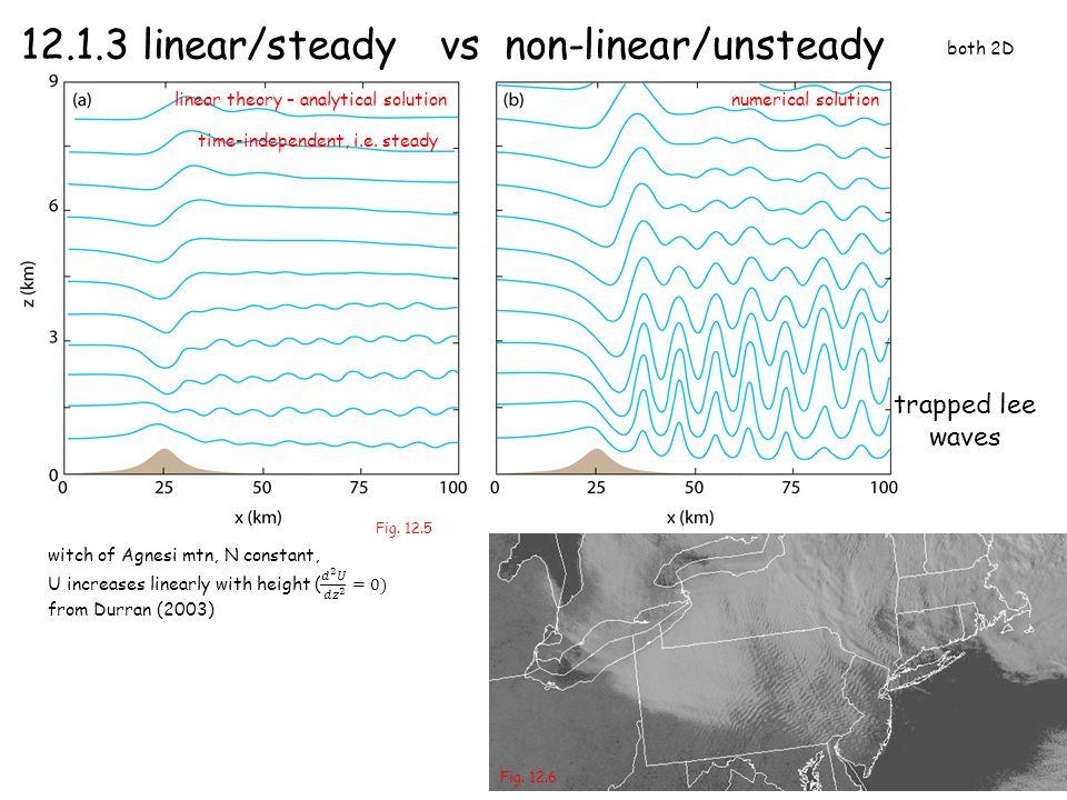 12.1.3 linear/steady vs non-linear/unsteady