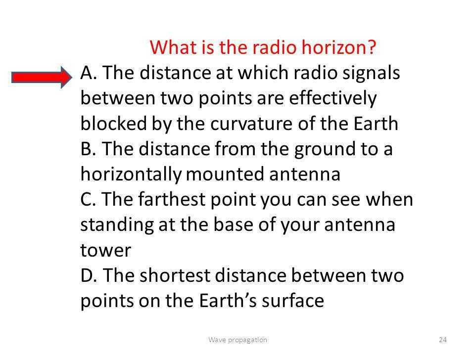 What is the radio horizon
